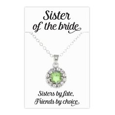 Sparkling 3.2 Carat Peridot Sister of the Bride Necklace