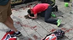 This is the saddest thing I have ever seen... His girlfriend died from the bomb and he refused to leave her... what worse was she was running and was waiting at the finish line to propose...Pray for him ♥