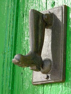 Old Boot shaped door knocker