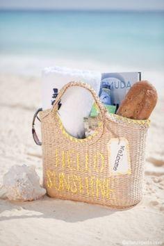 12 Creative Wedding Welcome Bags - Elizabeth Anne Designs I Love The Beach, Summer Of Love, Summer Fun, Summer Time, Summer Dream, Nice Beach, Summer Blues, Hello Summer, Spring Summer