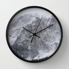 Mountains of Austria, Photo Clock,Modern Clock,Retro Clock,Winter Decor,Home Decor,Round Clock,Rustic Clock,Home Accessories,Interior Design
