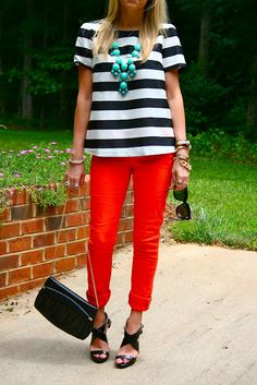 top: Nordstrom // pants: J. Brand // shoes: Jimmy Choo // clutch: vintage  // sunnies: House of Harlow // nec.
