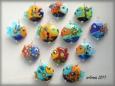HappyFish by Beadsister, via Flickr ... these are lampwork, a great idea for inspiration