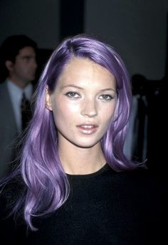 kate moss-- LOVE THIS COLOR, would do this if it were acceptable to have this color at work.. lol