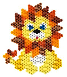 Lion Hama beads (hexagon pegboard) - HAMA 3237