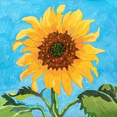 New Day Sunflower Beach Print Sunflower Fields, Sunflower Print, Lambs For Sale, Teen Hangout, Coastal Art, Beach Print, Mellow Yellow, New Day, Giclee Print