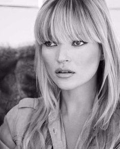 Kate Moss #bangs. Pinterest//TatiRocks⭐️