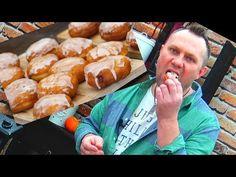 PĄCZKI MEGA PUSZYSTE ! / Oddaszfartucha - YouTube Pizza Lasagna, Sweets Cake, Christmas Appetizers, Pina Colada, Pretzel Bites, Cake Cookies, Donuts, Sausage, Muffins