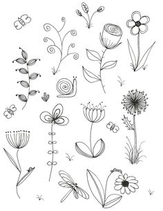 My original art, inspired by many. Doodle, flower, line drawing My original art inspired by Line Drawing Tattoos, Flower Line Drawings, Botanical Line Drawing, Flower Sketches, Drawing Flowers, Tattoo Flowers, Sketch Tattoo, Simple Flower Drawing, Flower Garden Drawing