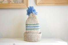 Vintage Beige Striped Ski Cap by TheHabbitsofRabbits on Etsy, $14.00