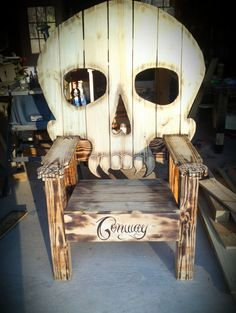skull chair by TinkerTimebyConway on Etsy