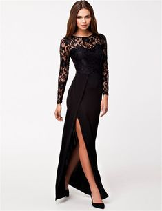e1690d27ff 30 Elegant And Fashionable Black Lace Dress Ideas