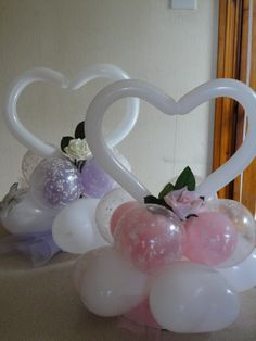 Ideal for weddings, adaptable for any occasion. Wedding Balloon Decorations, Girl Baby Shower Decorations, Balloon Centerpieces, Wedding Balloons, Birthday Party Decorations, Balloon Crafts, Balloon Gift, Balloon Garland, Valentines Balloons
