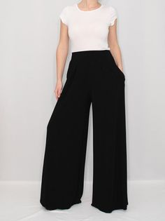 Black+Pants+High+Waist+Wide+Leg+Pants+Womens+by+KSclothing+on+Etsy,+$35.00