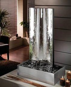 Fuente de agua de pared interior comedor cuarto de tv for Fuentes decorativas de interior
