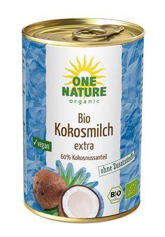 ONE NATURE organic BIO Kokosmilch, 6er Pack (6 x 400 g)