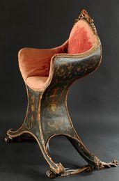 Poltrocina / gondola chair / Venice / 18th century /Furniture-Kunsthandel Brigitte Martini