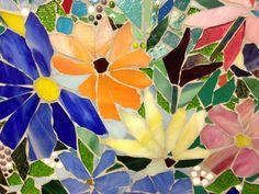 Floral Mosaic Kitchen Backsplash | Designer Glass Mosaics|Designer Glass Mosaics