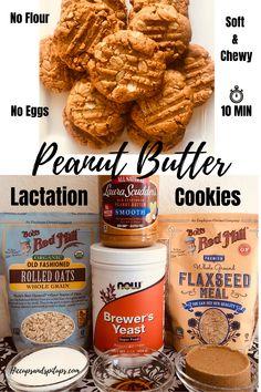 Flourless Peanut Butter Cookies, Peanut Butter Cookie Recipe, Baby Food Recipes, Cookie Recipes, Flour Recipes, Boost Milk Supply, Increase Milk Supply, Breastfeeding Snacks, Brewers Yeast Breastfeeding