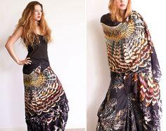 Gorgeous bird wing scarf by designer Roza Khamitova