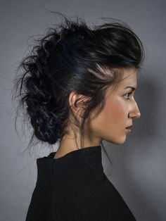 Sally Montague, mohawk braid with colored chalk