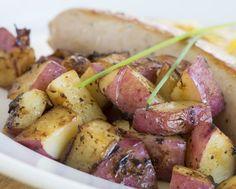 """Boudin blanc et pommes de terre """"Chérie"""" au four"""