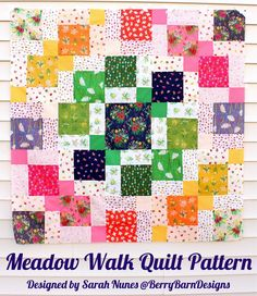 Welcome Banner Quilt Creative Scrap Quilting sewing pattern /& templates