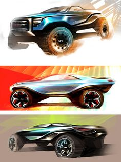 GMC Concept by Sean Peterson Design Sketches
