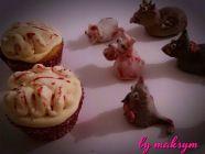 brain cupcakes : strawberries & Xeres