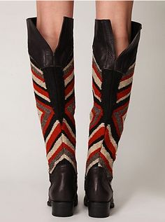 mexican blanket boots