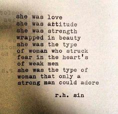 She was love