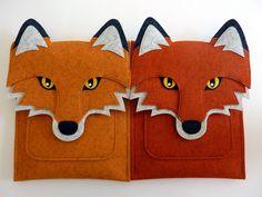 Fox iPad Pro case - Felt bag by BoutiqueID on Etsy