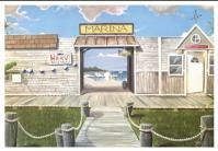 Fishing Village mural - on foyer wall approximately 12 feet wide & 8 ft tall