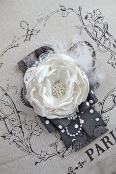 Crystal Snowflakes Bow Headband by London Raquel by londonraquel, $32.00