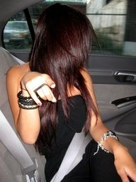 New fall hair color Love Hair, Great Hair, Gorgeous Hair, Fall Hair Colors, Brown Hair Colors, Hair Color Dark Red, Dark Red Brown Hair, Hair Color And Cut, Haircut And Color