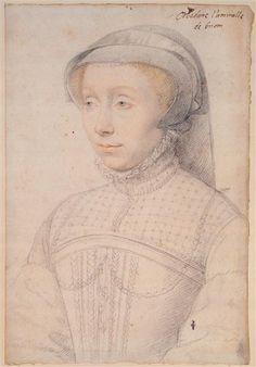Françoise de Longwy, épouse de Philippe Chabot, amiral, sire de Brion (vers 1510-vers 1565) ... c. 1558 ... Clouet François (vers 1515-1572)