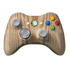 XBOX 360 controller Wireless Glossy WTP-386-Oak-Wood-Grain Custom Painted- Without Mods