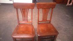 sillas en madera antiguas