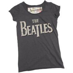 Beatles Logo Dark Amplified Tshirt ($35) ❤ liked on Polyvore featuring tops, t-shirts, shirts, tees, logo tee, t shirts, logo t shirts, tee-shirt and logo tops