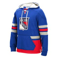 New York Rangers CCM Big & Tall Pullover Hoodie - Royal - $87.99