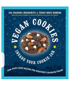 Isa Chandra Moskowitz and Terry Hope Romero share 100 vegan cookie recipes in Vegan Cookies Invade Your Cookie Jar. The book has a wide range of cookie styles from the classic chocolate chip (dairy-free, of course) to new and fun recipes like Key Lime Shortbread Rounds. Don't be fooled: Being vegan is no prerequisite for enjoying these!