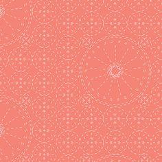 Bari J. Ackerman - Wild Bloom - Sashiko Florette in Coral