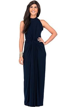KOH KOH Women's Sleeveless Infinity Knotted Cocktail Elegant Maxi Dress ** Read more reviews of the item by visiting the link on the image.