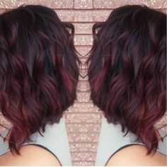 My new red violet ombré and cut