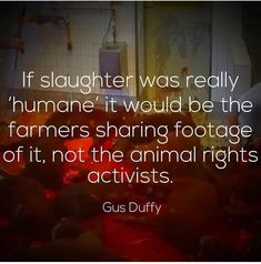 Nothing humane happens in a slaughterhouse!