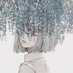 Image discovered by ◇FT GK◇. Find images and videos about art, anime and flowers on We Heart It - the app to get lost in what you love. Art And Illustration, Landscape Illustration, Art Illustrations, Kunst Inspo, Art Inspo, Aesthetic Anime, Aesthetic Art, Anime Art Girl, Manga Art