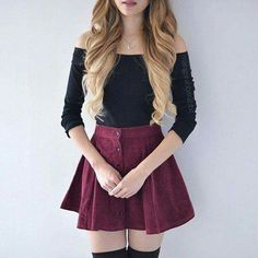 Find and save up to date fashion trends and the latest style inspiration, ootd photography and outfit looks Teen Fashion Outfits, Mode Outfits, Skirt Outfits, Cute Fashion, Outfits For Teens, Trendy Outfits, Fall Outfits, Summer Outfits, Womens Fashion
