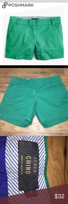 J. Crew Chino Shorts J. Crew Chino Shorts. Dark green color. Clasp and zipper. No signs of wear. J. Crew Shorts