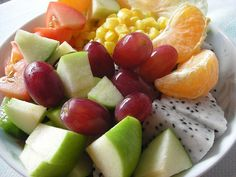 Fruits are the foundation of a healthy diet, so try to eat fruit everyday in your meal.