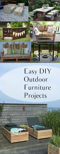 Easy DIY Outdoor Furniture Projects. Gardening, home garden, garden hacks, garden tips and tricks, growing plants, plants, vegetable gardening, planting fruit, flower garden, outdoor living